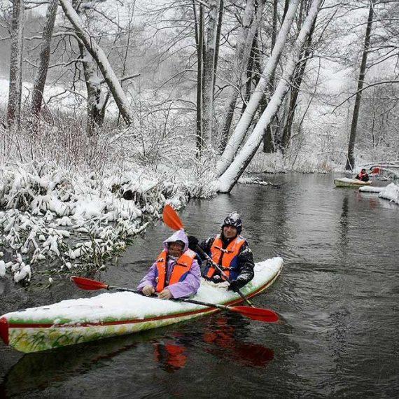 zimowy spływ Krutynią